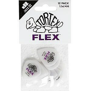 JIM DUNLOP - Tortex Flex Jazz III Guitar Pick 1.14mm Players Pack
