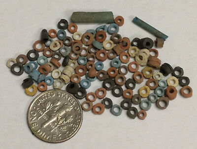 More than a Hundred 2500 Year old Ancient Egyptian Faience Mummy Beads (#G6091)