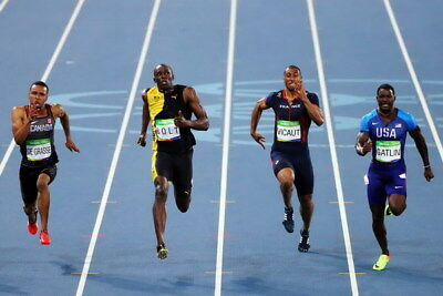 "046 Usain Bolt - 100 m Running Jamaica Game Champion Olympic 36""x24"" Poster"