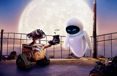 "032 WALL E - Pixar Eve Space Adventure Cartoon Movie 36""x24"" Poster"