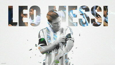"""084 Lionel Messi - Barcelona Football Soccer Top Player 42""""x24"""" Poster"""