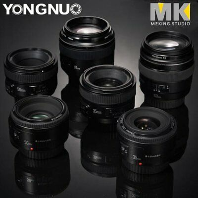 YONGNUO YN 35mm/40mm/50mm/100mm EF AF/MF Prime Fixed Lens FOR Nikon Canon Camera