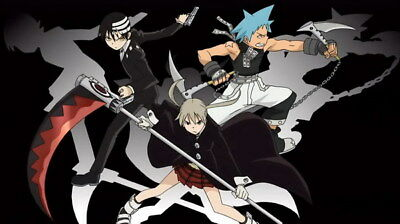 """030 Soul Eater - Shinigami Death the kid Anime 25""""x14"""" Poster"""