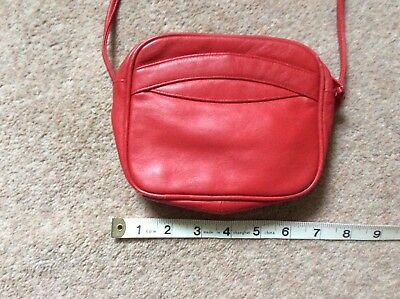 Small Red Leather Shoulder Bag Buy It Now.