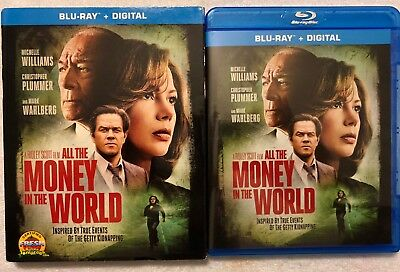 All The Money In The World Blu Ray + Slipcover Sleeve Free World Wide Shipping