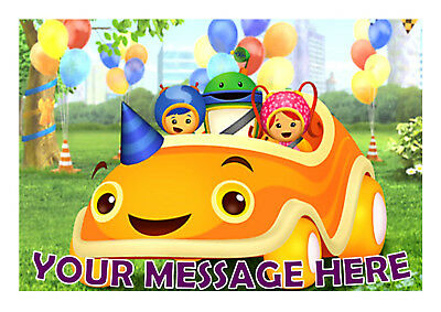 Team Umizoomi Birthday Personalised Cake Topper A4 Edible Iced Icing