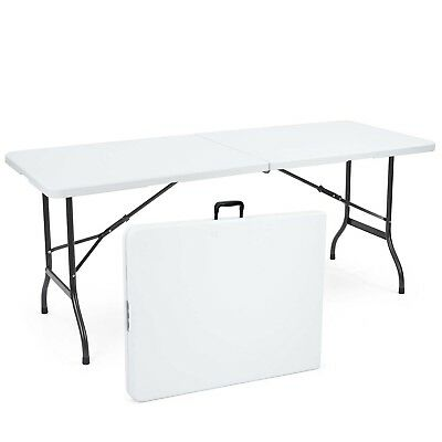 6ft Folding Trestle Table Heavy Duty Portable BBQ Party Stall Garden Camping
