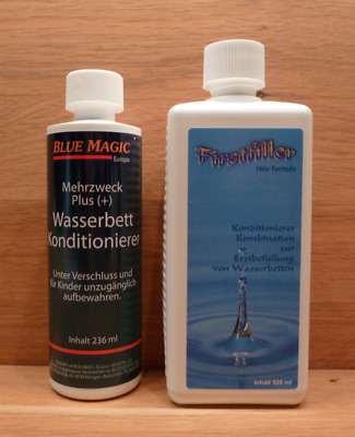 2 tlg. Set 1 Firstfiller/1 Konditionierer Blue Magic,Wasserbett,Erstbefülllung