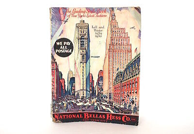Bellas Hess Vintage Advertising Catalog Times Square New York 1920s Fashion