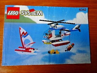 Lego System Instructions Only Number 6342 Beach Rescue Chopper