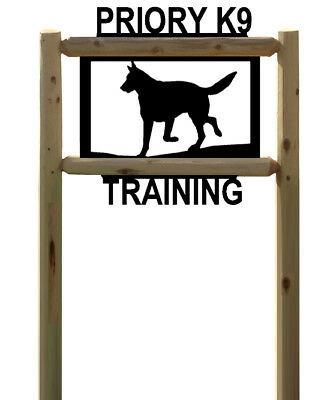German Shepards - Kennel Sign - Pets - Clingermans Cedar Log Signs