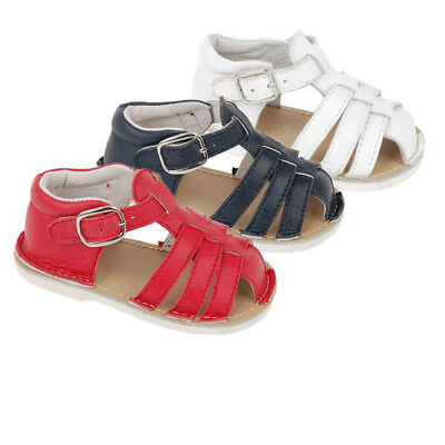 Baby Boys Official Spanish Genuine Leather Summer Gladiator Sandals Hard Sole