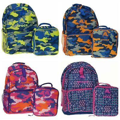 Crocs Backpack With Lunchbag Combo choice of 4 designs