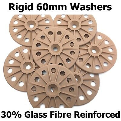 Rigid 60mm washers for fixing Savolit and Pavatex Wood Fibre Insulation Boards