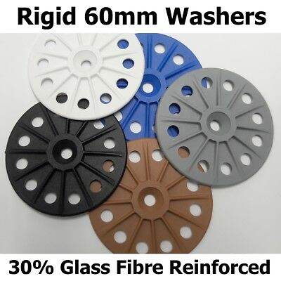 60mm Reinforced 30% Glass Fibre Washers for Fixing Rigid Insulation Boards