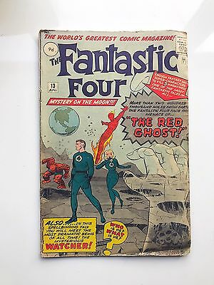 Fantastic Four #13 1963 Marvel Silver Age Comic EXTREMELY RARE