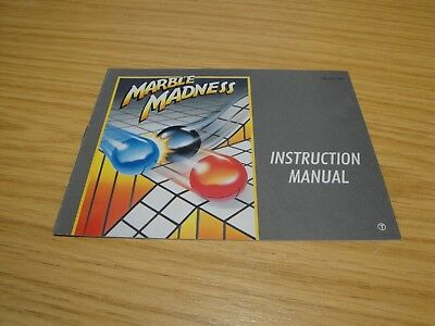 Marble Madness Manual.nintendo Nes. Pal A. Ukv..