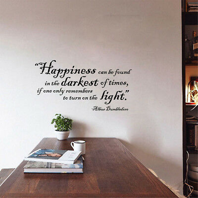 Harry Potter Wall Quote Sticker Vinyl wall art Home Decor decals FREE SHIPPING