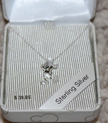 NEW DISNEY PARKS MICKEY MOUSE Figurine STERLING SILVER 925 Necklace