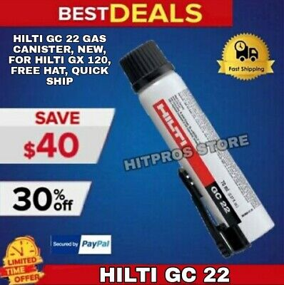 Hilti Gc 22 Gas Canister, New, For Hilti Gx 120, Free Hat, Quick Ship