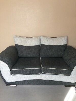 Scs Two Seater Sofa In Grey Used Good Condition 150 00 Picclick Uk