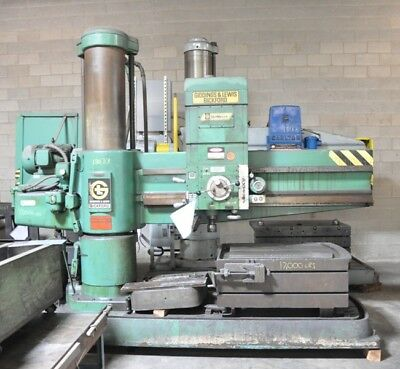 "1977 6' X 15"" Giddings & Lewis 962 Radial Drill Power Arm Elevation Coolant Pump"
