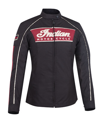 Womens Black Red 1901 Jacket By Indian Motorcycle Embroidered Logo Size Medium