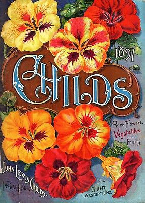 Childs Collection Vintage Fruit Seeds Packet Catalogue Advertisement Poster 1