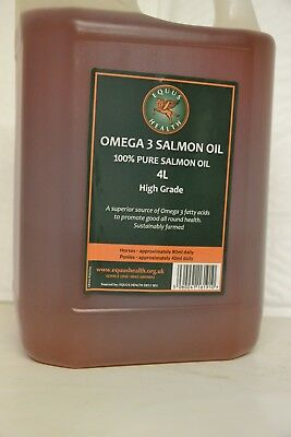 4 Litres Salmon Oil for Horses and Dogs 100% Pure