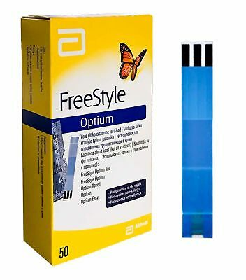 Abbott FreeStyle Optium Total 100 (2X50) Blood Glucose Test Strips || Exp 2019