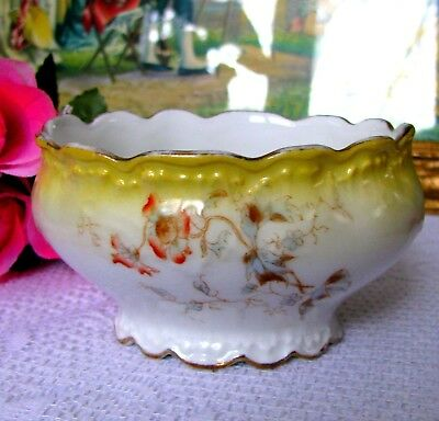 SM Limoges Elite France Depose Antique Candy Bowl Hand Painted Circa Late 1800s