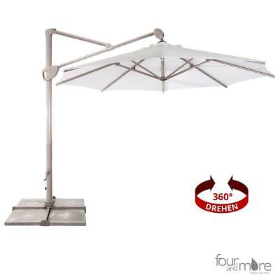 Luxury Canopy Shade/Parasol Ø300 cm Incl. Stand with UV50+ White
