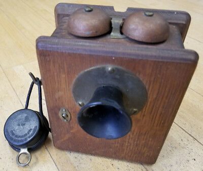 Western Electric Company 327T Antique 1900's Intercom Wall Inter-Phone Telephone