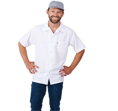 430WH-Cook Shirt White Color Short Sleeve Chef Shirt