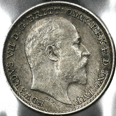 1902 Silver One 1 Penny Great Britain