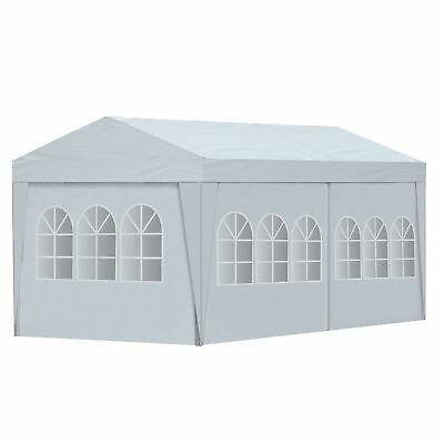 10'X20' White Portable Garage Carport Car Shelter Outdoor Canopy Tent for Car
