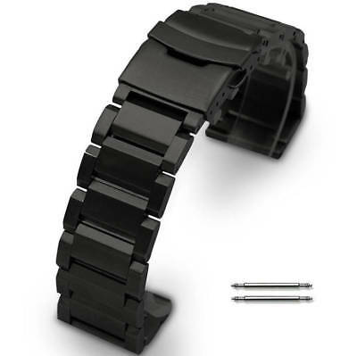 Nixon Replacement Watch Band Black Steel Metal Strap Double Locking Clasp #5002
