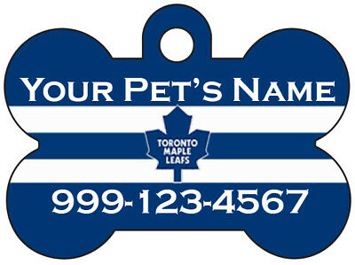 Toronto Maple Leafs Custom Pet Id Dog Tag Personalized w/ Name & Number