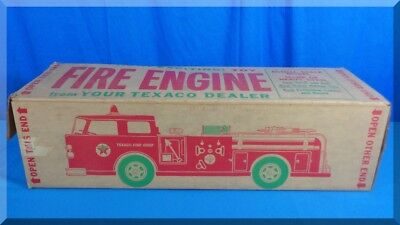 Vintage Amf Wen Mac Texaco Fire Chief Metal Toy Red Engine Pumper Truck Nice Box