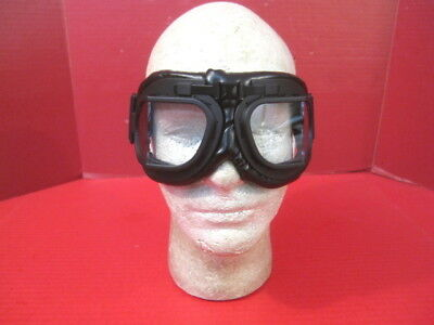 WWII British Royal AirForce RAF Pilots MK VIII Flying Goggles w/Strap - Repro