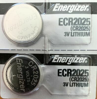 2 x FRESH Genuine Energizer CR2025 ECR2025 3V Coin Button Battery Fast Shipping