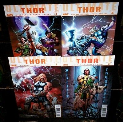 ULTIMATE THOR #1 2 3 4 Marvel Comics Full SET NM 9.2 Lot COLLECTION Hickman