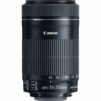 Canon EF-S 55-250mm f/4-5.6 IS STM Zoom Lens - Retail Packing QQ