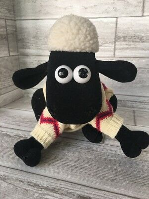 "Wallace & Gromit Shaun the Sheep A Close Shave Plush Toy with Tags 10"" 1989"