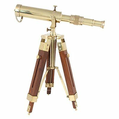 Vintage Brass Telescope on Tripod Stand / Antique Desktop Telescope for Home ...