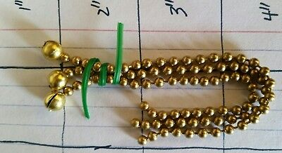 """Beadchain Set 1/4"""" Brass for Antique 3 Chain Ceiling Light Vintage Glass Shades"""