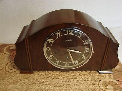JUNHANS ART DECO CLOCK 1930 with pendulum,Junghans Mantel Clock Westminster