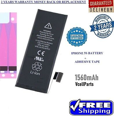 New 1560mAh Li-ion Internal Battery Replacement for Apple iPhone 5S 5C Adhesive