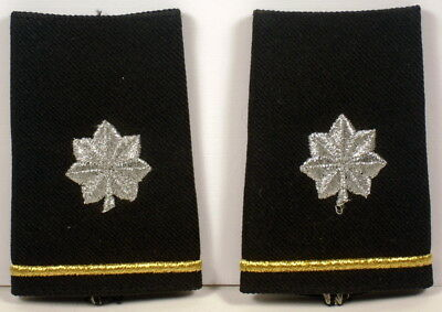 US Army LTC LT Col Epaulet Soft Shoulder Boards Small Size for Dress Blues