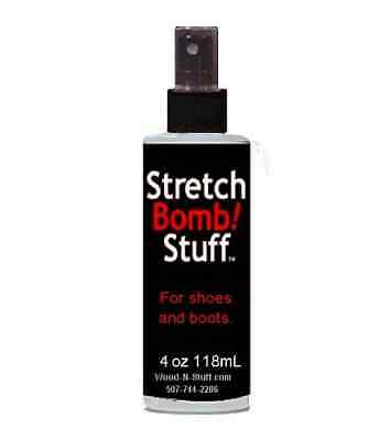 (1) 4oz Bottles of Shoe STRETCH BOMB Works Best on BOOTS SHOE STRETCHER